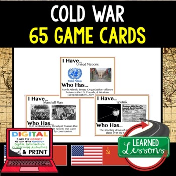 World History Cold War 65 I Have Who Has Game Cards