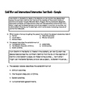 Cold War and International Interaction Test Bank for World History (Examview)
