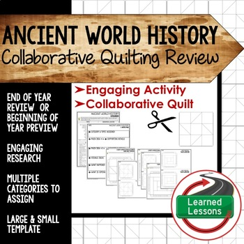 World History Collaborative Quilt, Classroom Display, Coll
