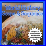 World History Complete Course Scope and Sequence Curriculum Map