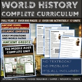 World History Complete  Curriculum (350 Resource Pages/120
