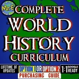 World History Complete Curriculum PURCHASING GUIDE: Option 1 or Option 2?