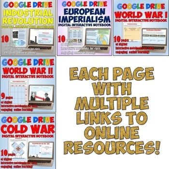 World History Complete Google Drive Interactive Notebook Bundle