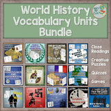 World History Complete Vocabulary Units Bundle: 12 Units!