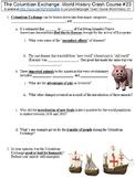 Crash Course World History #23 (The Columbian Exchange) worksheet