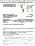 Crash Course World History #31 (Latin American Revolutions) worksheet