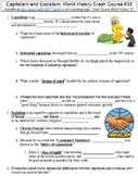 Crash Course World History #33 (Capitalism and Socialism) worksheet