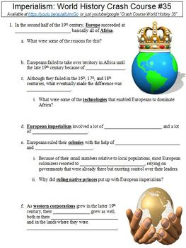 Crash Course World History #35 (Imperialism) worksheet