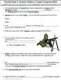 Crash Course World History #36 (World War I) worksheet