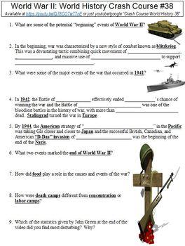 World History Crash Course #38 (World War II) worksheet