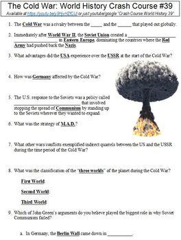 World History Crash Course #39 (The Cold War) worksheet