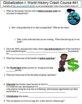 World History Crash Course #41 (Globalization I) worksheet
