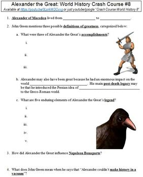 World History Crash Course #8 (Alexander the Great) worksheet