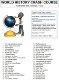 Crash Course World History Worksheets Complete Set (Full Collection Bundle)