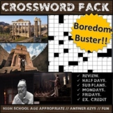 High School World History Crosswords (12 Puzzles and Keys)