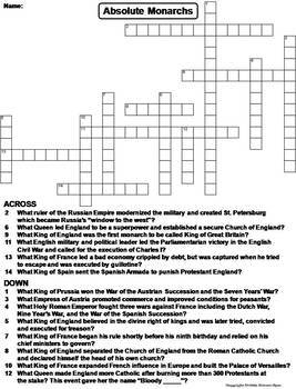 World History Crossword Puzzles: Middle Ages, Holocaust, Crusades, WW I & II