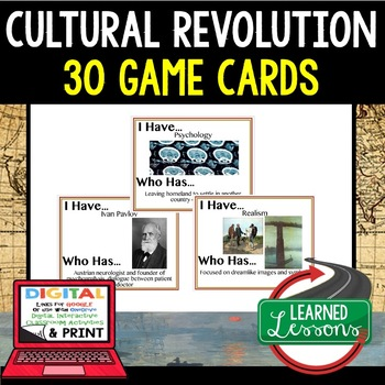 World History Cultural Revolution Game Cards 30 I Have Who Has Cards