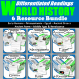 World History Differentiated Readings Bundle