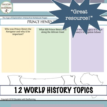 World History Ancients to Renaissance Digital Notebook for Google Drive