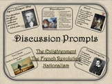 World History Discussion Prompts:  Enlightenment, French R