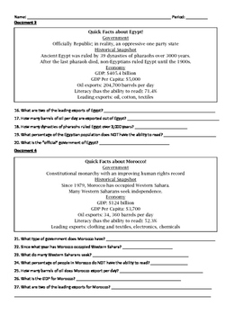 World History Document Based Question Packet