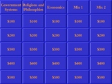 World History EOC Jeopardy