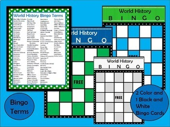 World History EOC and Final Exam Review Games Bundle