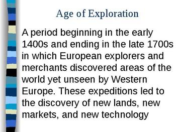 World History EXPLORATIONS UNIT Power Point Bundle