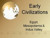 World History: Early Civilizations: Egypt, Mesopotamia, Indus Valley