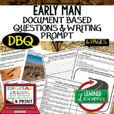 World History Early Man DBQ & Writing Prompt with Checklis
