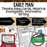 Early Man Timeline & Writing Activities, Digital Distance