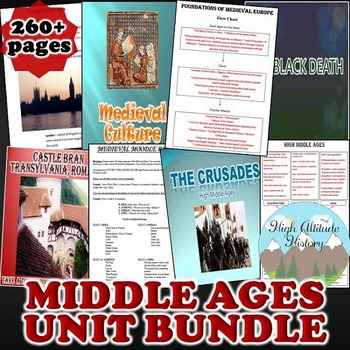 Middle Ages Unit / Early to High Middle Ages *Unit Bundle* (World History)
