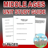 Middle Ages Unit Study Guide (World History)