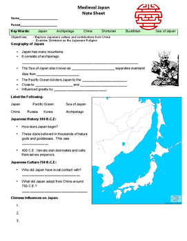World History: Eastern Hemisphere Unit Interactive Notebook