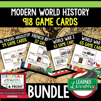 World History  English Civil War & American Revolution 60  Game Cards