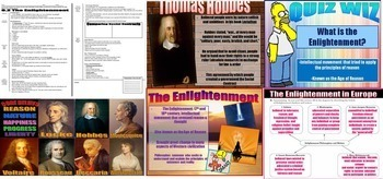 World History Enlightenment Unit BUNDLE PowerPoint Guided Notes Project Activity