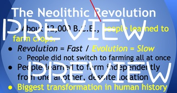 Ridgway History | World History Episode 3: The Neolithic Revolution