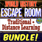 World History Escape Room COMPLETE Bundle | Traditional +