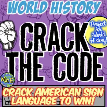 World History Escape Room: Translate American Sign Language on World History!