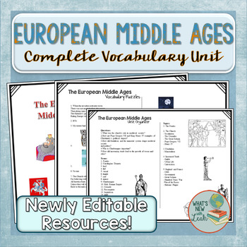 European Middle Ages Vocabulary Unit
