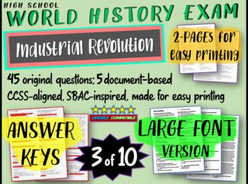 World History Exam: INDUSTRIAL REVOLUTION, 45 Test Qs, Com