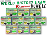 World History Exams for all 10 units: 465 questions in all, Common Core Inspired