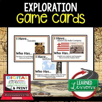 World History Explorers 36 I Have Who Has Game Cards