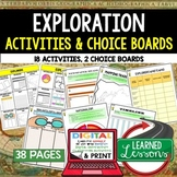 World History Explorers Activities, Choice Board, Print & Digital, Google