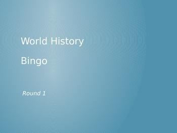World History Final Bingo (with answers)