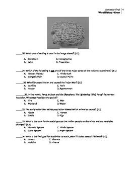 World History Final Exam