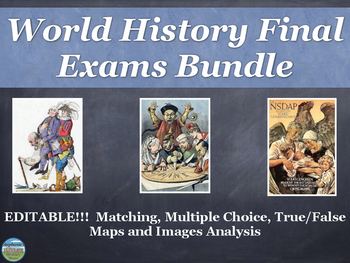 World History Final Exam BUNDLE Editable