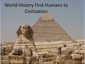 World History First Humans to Civilization