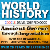 World History First Semester Ancient Greece-Imperialism Activities Bundle