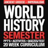 World History First Semester Greece-Imperialism Activities Bundle GOOGLE DRIVE